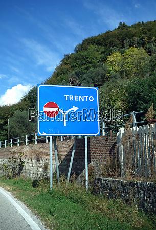 federal motorway exit trento italy
