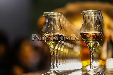 liquor and wine glass