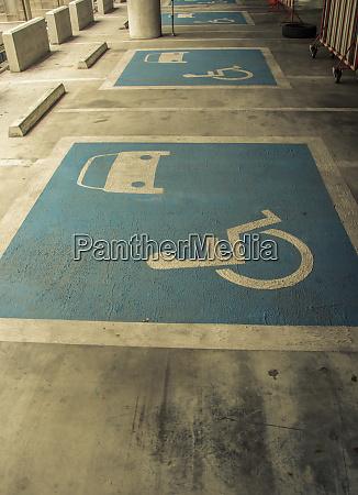 indoor disabled parking