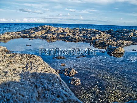 natural waterpools at the coast hdr