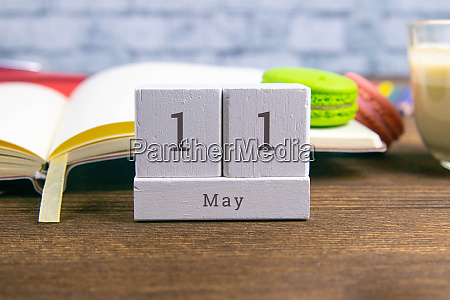 may 11 on the wooden calendarthe