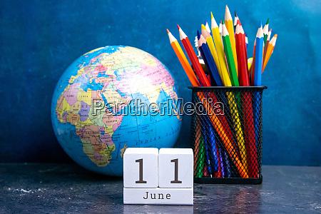june 11 on the wooden calendarthe