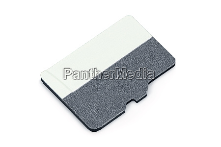 blank micro sd memory card on