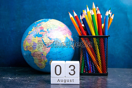 august 3 on the wooden calendarthe