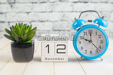 november 12 on the wooden calendarthe