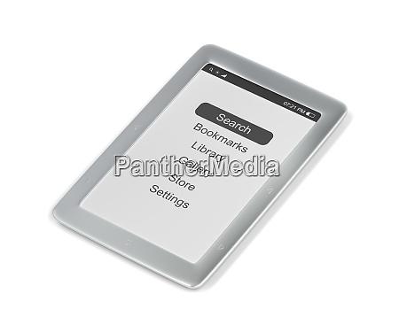 silver e book reader