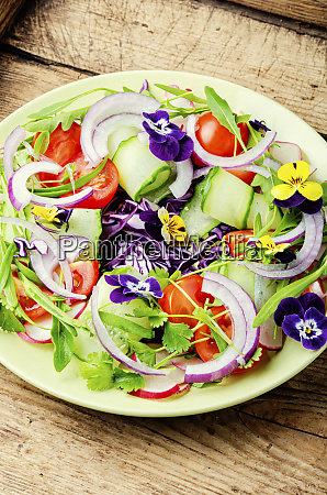 salad with vegetables and herbs