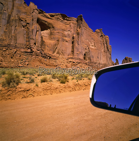 driving in monument valley