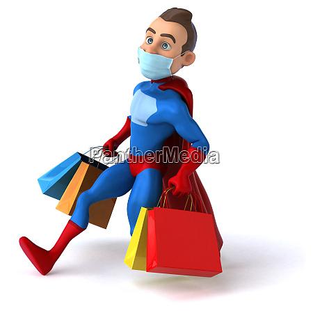 fun cartoon superhero character with a