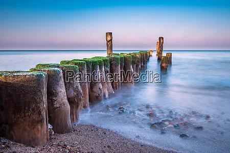 groyne on shore of the baltic