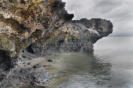 rocky coast on bohol in the