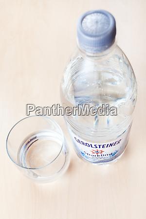 bottle of gerolsteiner sparkling water and