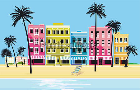 city in the tropics vector