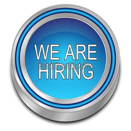 blue we are hiring button