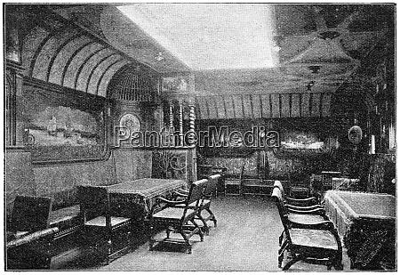 salon of a german transatlantic ocean
