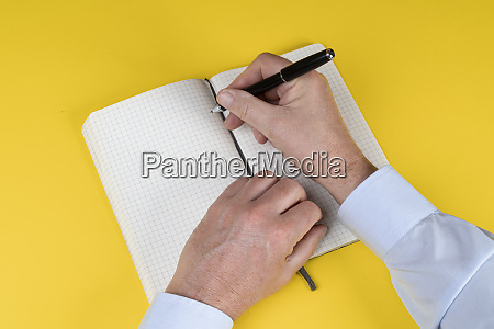 write on a notebook