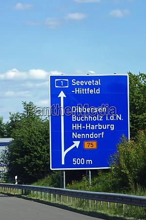 federal motorway exit seevetal hittfeld dibbersen