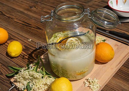 the big preserving jar with the