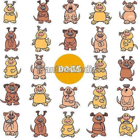 cartoon dog characters emotions and moods