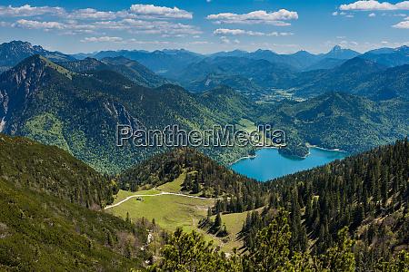 bavarian alpine upland with walchensee