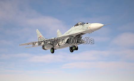 military fighter aircraft mig 29 landingtake
