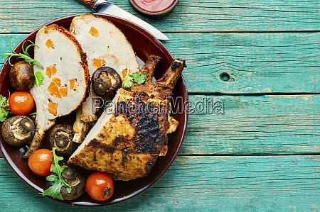 appetizing pork rack