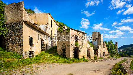 ruined buildings of an abandoned city