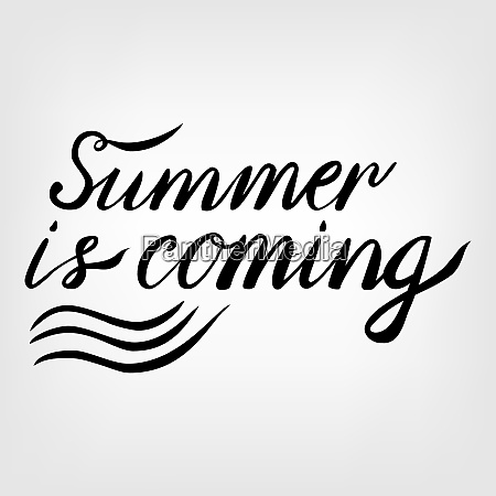 vintage lettering calligraphic summer is coming