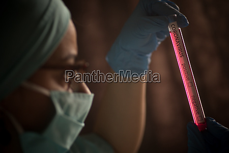 doctor holding a coronavirus covid 19