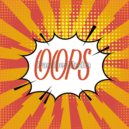oops lettering comics book background colorful