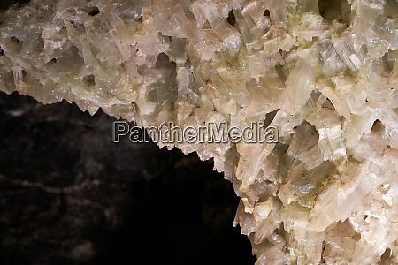 gypsum crystals in a cave