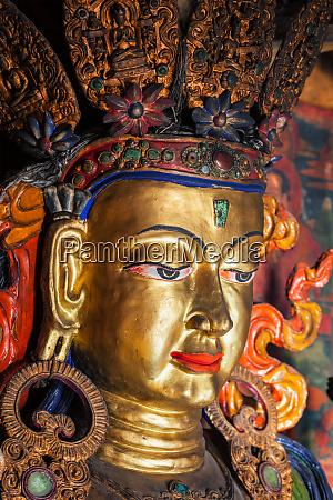 maitreya buddha thiksey gompa ladakh india