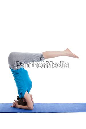 yoga young beautiful woman doing