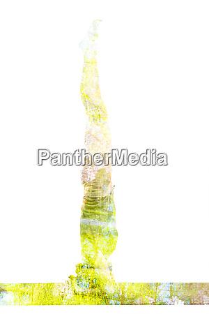 double exposure image of woman