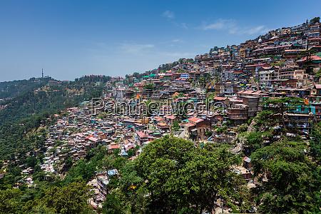 shimla town himachal pradesh india