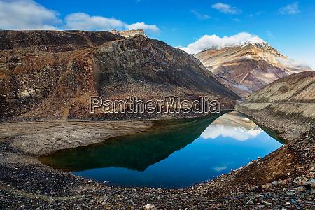 suraj tal lake himachal pradesh india