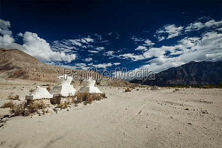 chorten in himalayas nubra valley ladakh