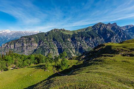 spring in kullu valley in himalaya