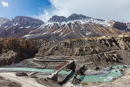 bridge over spiti river spiti valley