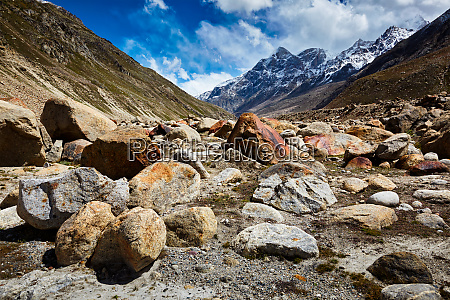 lahaul valley in himalayas