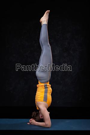 yoga woman doing yoga asana