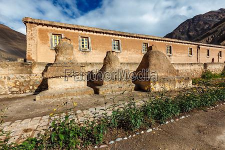 tabo monastery in tabo village spiti