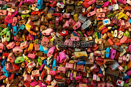 love locks at namsan seoul tower