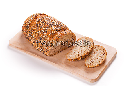 sliced loaf of bread on a