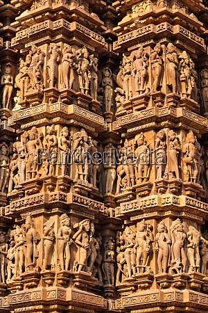 famous sculptures of khajuraho temples india