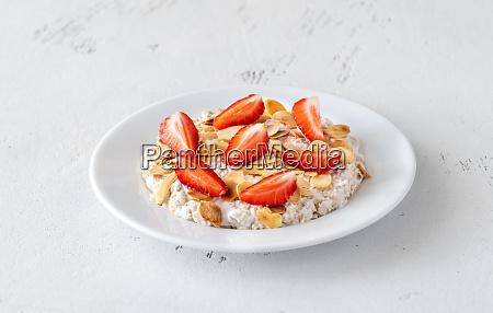 portion of bircher muesli