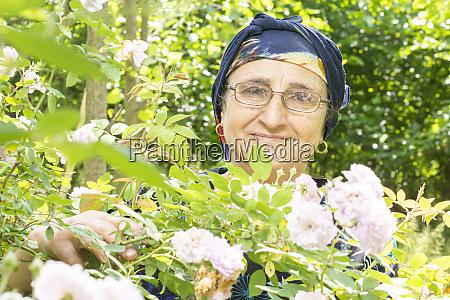 portrait of a happy senior muslim