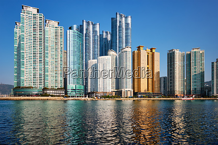 marine city skyscrapers in busan south