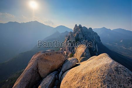view from ulsanbawi rock peak on