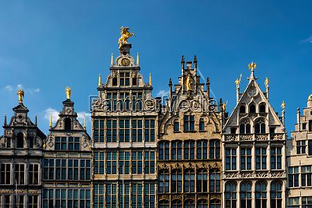 antwerp grote markt old houses belgium